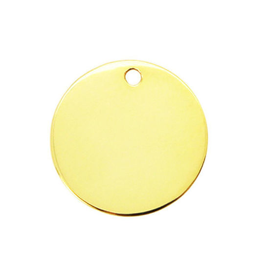Wholesale 18K Gold Over Sterling Silver Round Stamping Blank -  25mm