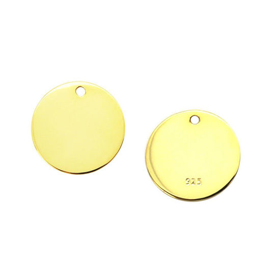 Wholesale 18K Gold Over Sterling Silver Round Stamping Blanks - 12mm