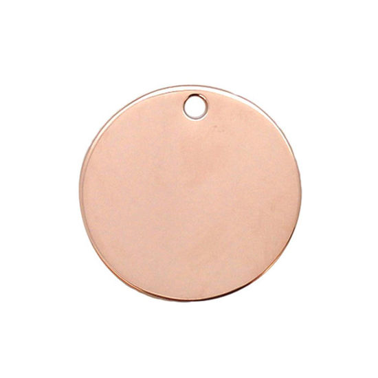 Wholesale Rose Gold Over Sterling Silver Round Stamping Blank - 25mm