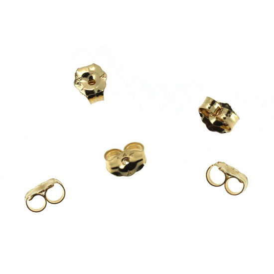 Wholesale 14K Yellow Gold Butterfly Earring Post Backs Earnuts (1 pair)
