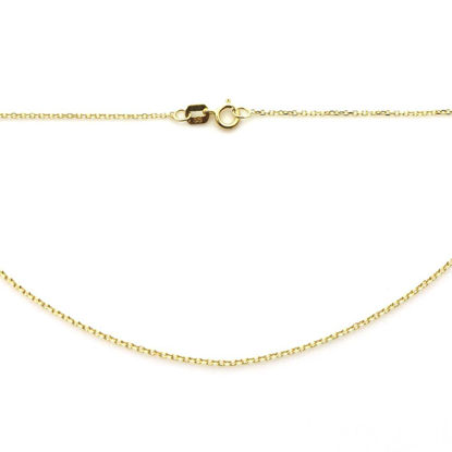 Wholesale 14K Yellow Gold Necklace-Tiny Cable Chain-18 inches