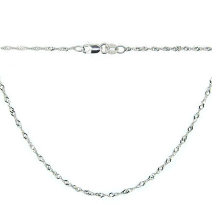 Wholesale 14K White Gold Necklace-Singapore Chain-18 inches
