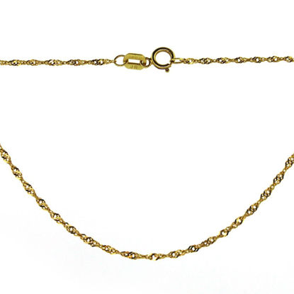 Wholesale 14K Yellow Gold Necklace-Singapore Chain-16 inches
