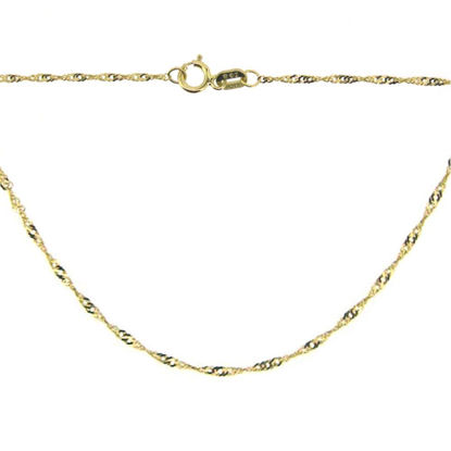 Wholesale 14K Yellow Gold Necklace-Singapore Chain-18 inches