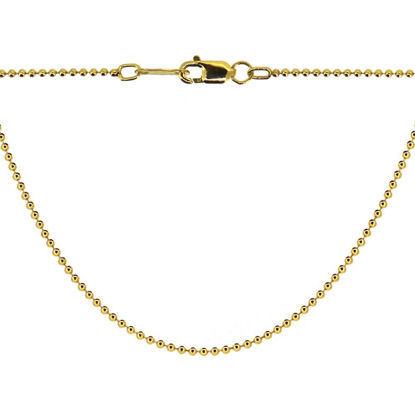 Wholesale Gold plated Sterling Silver Vermeil Tiny Ball Chain, Wholesale Bulk Necklace Chains
