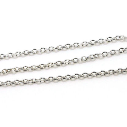Wholesale 925 Sterling Silver Bulk Chain - 2.8x3.5mm Oval Cable Chain (sold per foot)