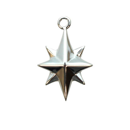 Wholesale Sterling Silver Northstar Charm,  Charms and Pendants for Jewelry Making, Wholesale Findings