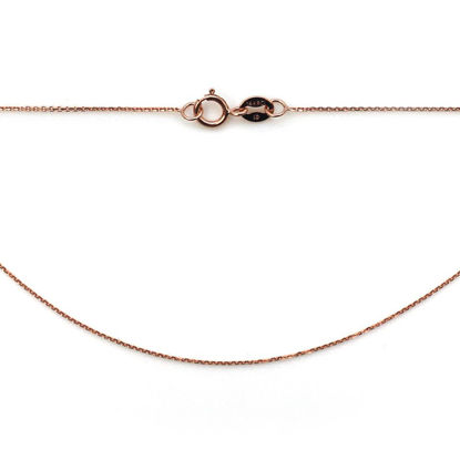 Wholesale 14K Rose Gold Necklace - Tiny Cable Chain - 18 inches