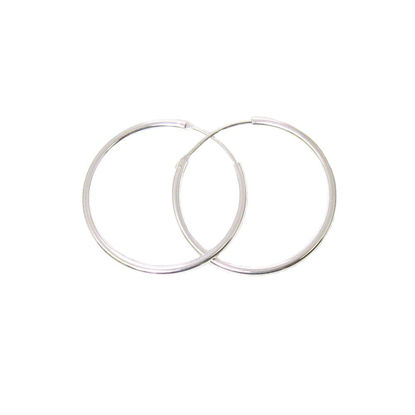 Wholesale Sterling Silver 30mm Earring Hoops (Sold per pair)