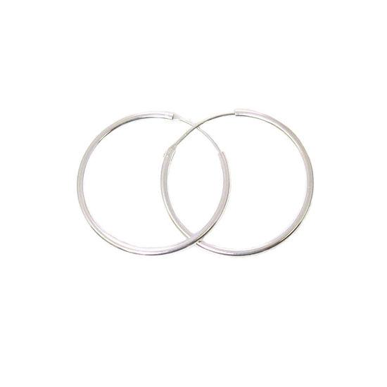 Wholesale Sterling Silver 30mm Earring Hoops (Sold per pair)