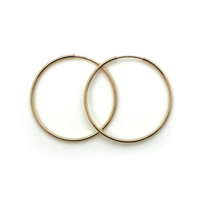 Wholesale 14K Gold Filled Endless Hoop Earrings  - 30mm (Sold per pair)