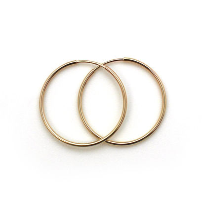 Wholesale 14K Gold Filled Endless Hoop Earrings - 24mm (Sold per pair)