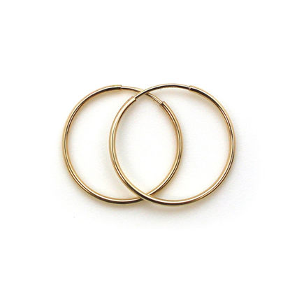 Wholesale 14K Gold Filled Endless Hoop Earrings 20mm (Sold per pair)