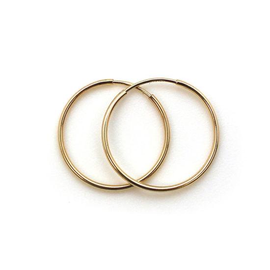 Wholesale 14K Gold Filled Endless Hoop Earrings 20mm (Sold per pair)