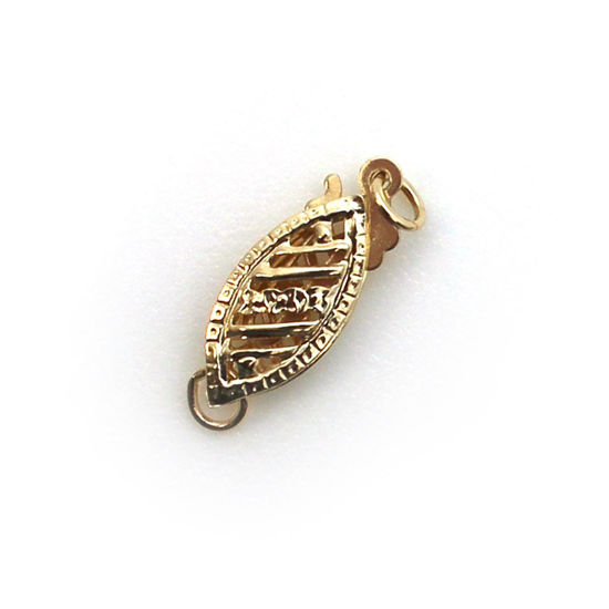 Wholesale 14K Yellow Gold Fancy Filigree Push Clasp