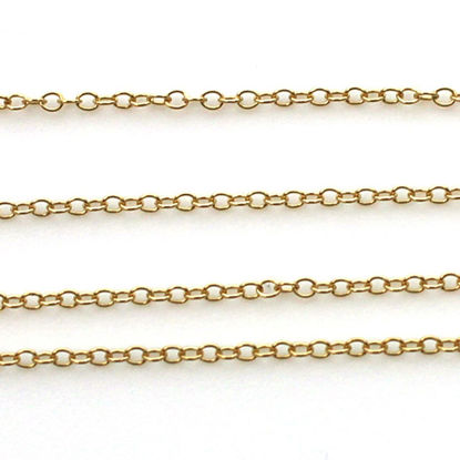 Wholesale 1/20 14K Gold Filled Bulk Chain - 1.5x2mm Small Round Cable Chain (sold per foot