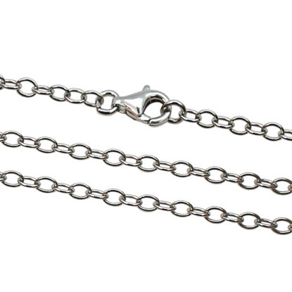 Wholesale Rhodium plated Sterling Silver Finished Chain - 4mm Strong Cable Chain