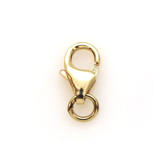 Wholesale 14K Yellow Gold Lobster Clasp 8.2x4.8mm (1 clasp)