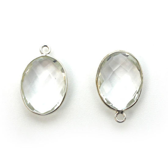 Wholesale Sterling Silver Oval Bezel Crystal Quartz Gemstone Pendant, Wholesale Gemstone Pendants for Jewelry Making