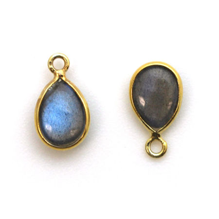 Picture for category Gold Tiny Teardrop Natural Gemstone Pendants