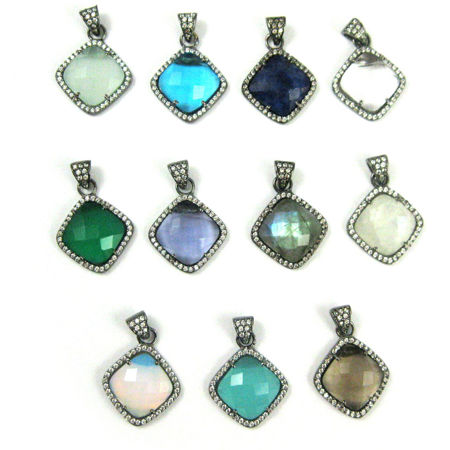 Picture for category Pave Bezel Diamond Pendant