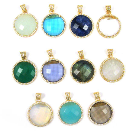 Picture for category Pave Bezel Round Pendants