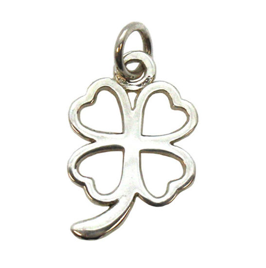 Wholesale Sterling Silver 4 leaf clover Charm, Charms and Pendants for Jewelry Making, Wholesale Findings