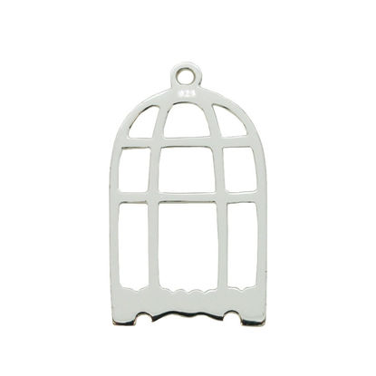 Wholesale Sterling Silver Bird Cage Charms and Pendants for Jewelry Making, Wholesale Findings