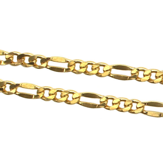 Wholesale Chain, Gold over 925 Sterling Silver Figaro Chain, Bulk Chain by the foot