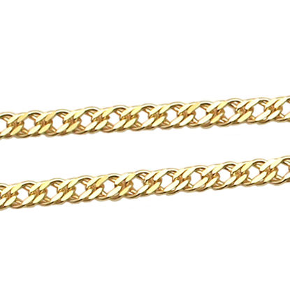 Wholesale Chain,Gold over 925 Sterling Silver Double Diamond Cut Curb Chain, Bulk Chain by the foot