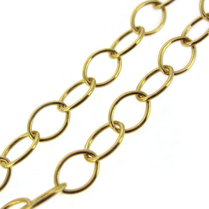Wholesale Chain, Gold plated 925 Sterling Silver Thick Oval Cable Chain Bulk Chain by the foot