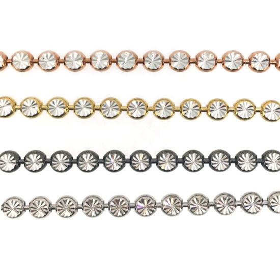 4 color Diamond Cut Bead Chain
