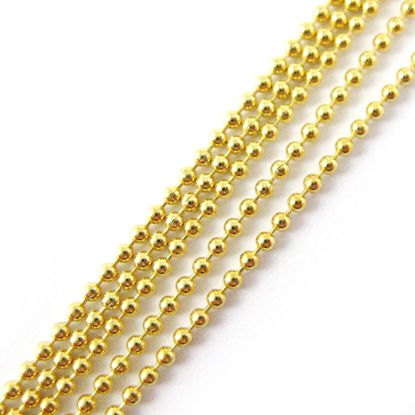 Wholesale Chain, Gold plated Sterling Silver Tiny Ball Chain 1.2mm Bulk Chain by the foot