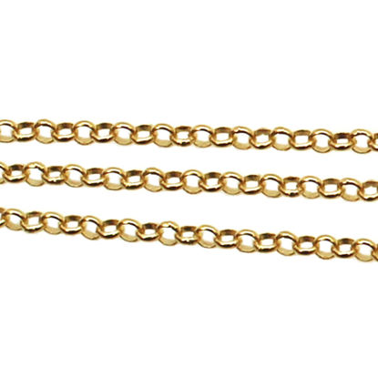Wholesale 22k Gold Over Sterling Silver Chain - 2mm Rolo Chain, Bulk Unfinished Chain (sold per foot)