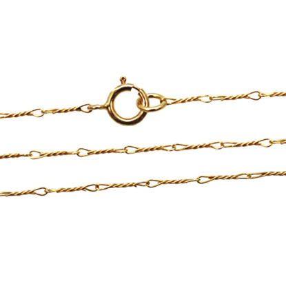 Wholesale Gold Over 925 Sterling Silver Finished Chain - Fancy Twisted Link