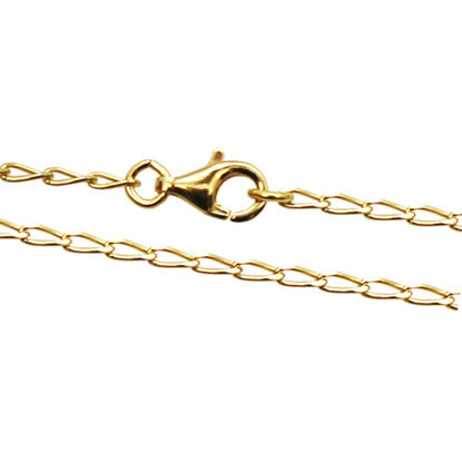 Wholesale Gold Over Sterling Silver Diamond Cut Curb Necklace Chain, Wholesale Bulk Necklace Chains