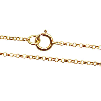 Wholesale Gold plated Sterling Silver Vermeil Tiny Rolo Chain, Wholesale Bulk Necklace Chains