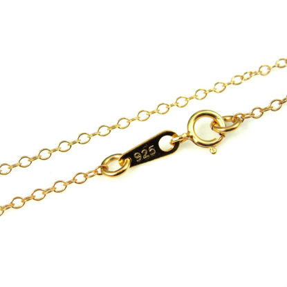 Wholesale Gold Over Sterling Silver Light Cable Chain, Wholesale Bulk Necklace Chains