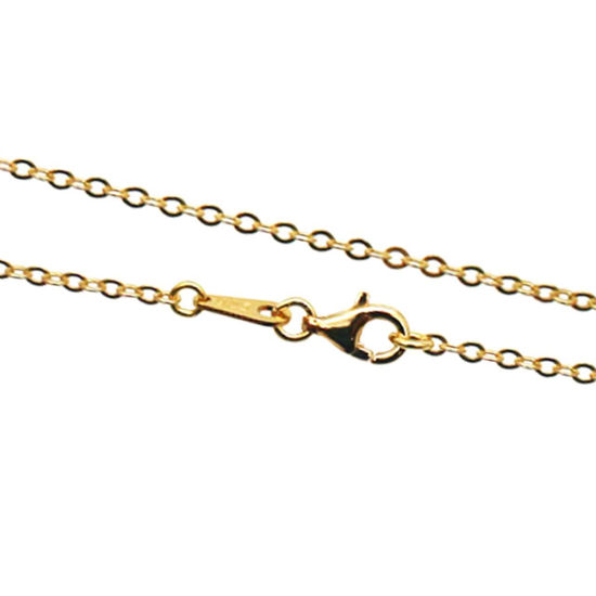 Wholesale Gold Over Sterling Silver Strong Flat Cable Chain, Wholesale Bulk Necklace Chains