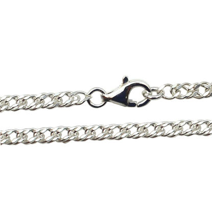 Wholesale Sterling Silver Double Diamond Cut Curb Chain, Wholesale Bulk Necklace Chains