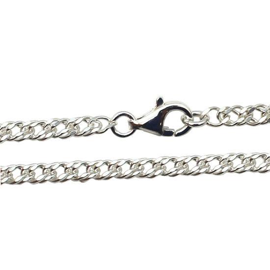 Wholesale Sterling Silver Double Diamond Cut Curb Chain, Wholesale Bulk Necklace Chains