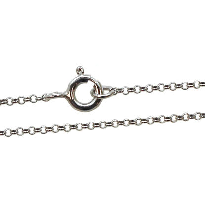 Wholesale Rhdoium plated Sterling Silver Tiny Rolo Chain, Wholesale Bulk Necklace Chains