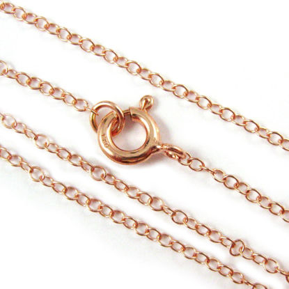 Wholesale Rose Gold plated Sterling Silver Vermeil Light Cable Chain, Wholesale Bulk Necklace Chains