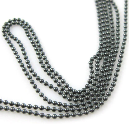 Wholesale Chain, Oxidized Sterling Silver Tiny Ball Chain 1.2mm Bulk Chain by the foot