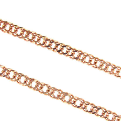 Wholesale Chain, Rose Gold over 925 Sterling Silver Double Diamond Cut Curb Chain, Bulk Chain by the foot