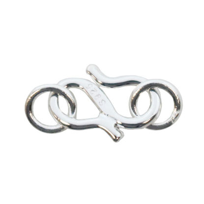 Wholesale Sterling Silver S Hook Clasp Closer - 8.5mm (Sold per 5 sets)