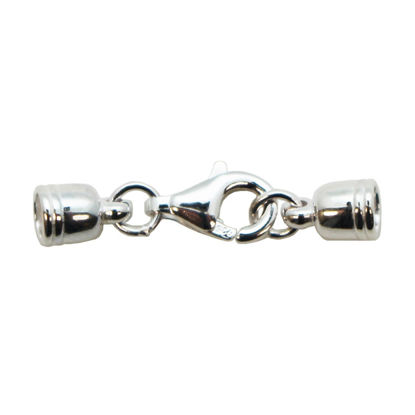 Wholesale Sterling Silver Tube End Cap and Clasp Set - 4.4mm (1 set)