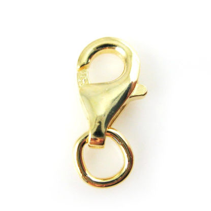 Wholesale Gold over 925 Sterling Silver Lobster Clasp - 9mm (sold per piece)