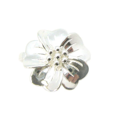 Wholesale Sterling Silver Magnetic Flower Bail Clasp - 13mm (1 clasp)