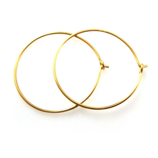 e6bc6f05fb64e Wholesale Gold plated Sterling Silver 25mm Hoop Earrings for Jewelry ...
